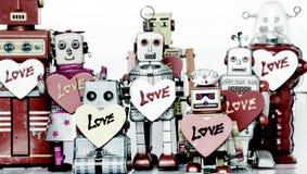 Familia del robot Fotografía de archivo
