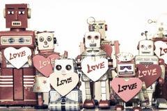Familia del robot Fotos de archivo libres de regalías