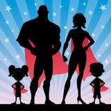 Familia del super héroe stock de ilustración
