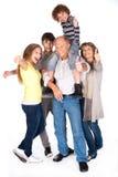 Familia del Thumbs-up que presenta en estilo Foto de archivo