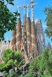 Familia di Sagrada a Barcellona immagini stock