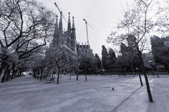 Familia di Sagrada a Barcellona Fotografia Stock