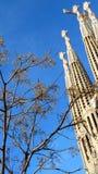 Familia di Sagrada a Barcellona (Spagna) frammento Immagini Stock