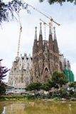 Familia di Sagrada da Gaudi in spagna Fotografia Stock