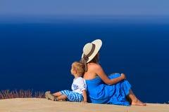Familia el vacaciones del mar Fotos de archivo libres de regalías
