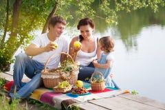 Familia en comida campestre Imágenes de archivo libres de regalías