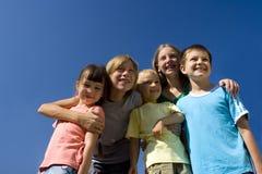 Familia en el cielo Foto de archivo libre de regalías