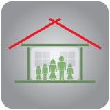 Familia en el país Imagen de archivo libre de regalías