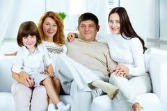 Familia en el país Imagenes de archivo