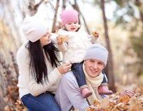 Familia en el parque Fotografía de archivo