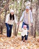 Familia en el parque fotos de archivo libres de regalías
