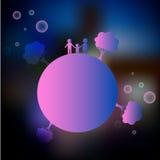 Familia en el planeta Imagenes de archivo