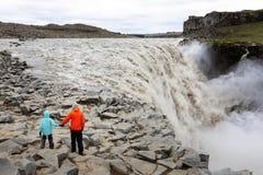 Familia en Islandia foto de archivo libre de regalías