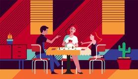Familia en la cocina Ejemplo del arte libre illustration