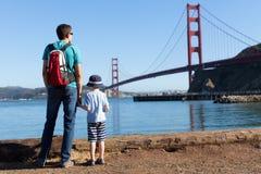 Familia en San Francisco fotos de archivo libres de regalías
