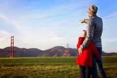 Familia en San Francisco fotografía de archivo libre de regalías