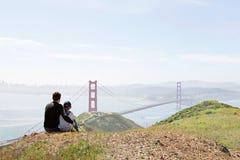 Familia en San Francisco imagen de archivo