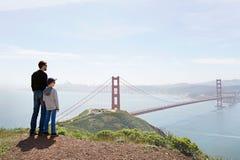 Familia en San Francisco imagen de archivo libre de regalías