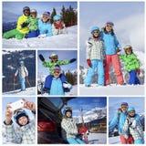 Familia en Ski Holiday imagenes de archivo
