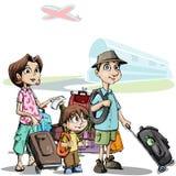Familia en viaje Fotografía de archivo