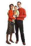 Familia encantadora con el bebé Imagenes de archivo