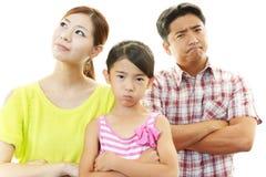Familia enojada Fotos de archivo