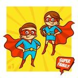 Familia estupenda Madre y padre Superheroes Vector Illustartion libre illustration