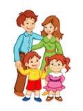 Familia feliz libre illustration