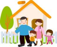 Familia feliz stock de ilustración