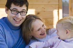 Familia feliz 2 Imagen de archivo libre de regalías
