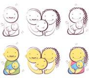 Familia feliz #3 Imagen de archivo
