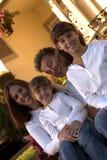 Familia feliz fotos de archivo