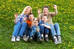 Familia feliz Imagenes de archivo