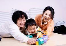 Familia feliz Imagen de archivo
