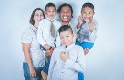 Familia feliz, adopción Fotos de archivo libres de regalías