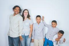 Familia feliz, adopción Imagen de archivo libre de regalías