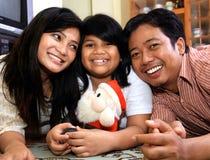 Familia feliz asiática Foto de archivo libre de regalías
