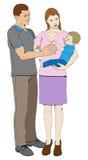 Familia feliz cariñosa joven ilustración del vector