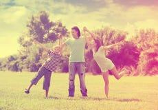 Familia feliz con el adolescente Fotografía de archivo