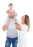 Familia feliz con el bebé Fotografía de archivo libre de regalías