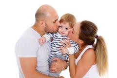 Familia feliz con el bebé Imagen de archivo