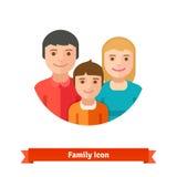 Familia feliz con el niño libre illustration