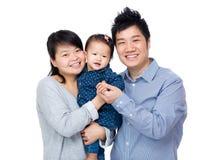 Familia feliz de Asia imagen de archivo libre de regalías