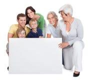 Familia feliz de las generaciones Imágenes de archivo libres de regalías