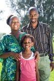 Familia feliz del afroamericano Imagenes de archivo