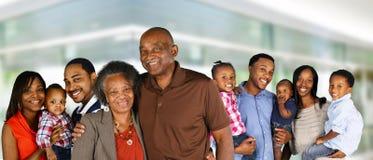 Familia feliz del afroamericano fotografía de archivo libre de regalías