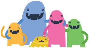 Familia feliz del monstruo Imagen de archivo libre de regalías