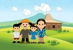 Familia feliz del ` s del granjero ilustración del vector