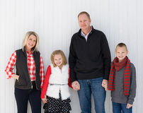 Familia feliz en la Navidad Imagen de archivo
