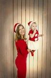 Familia feliz en la Navidad Fotos de archivo libres de regalías
